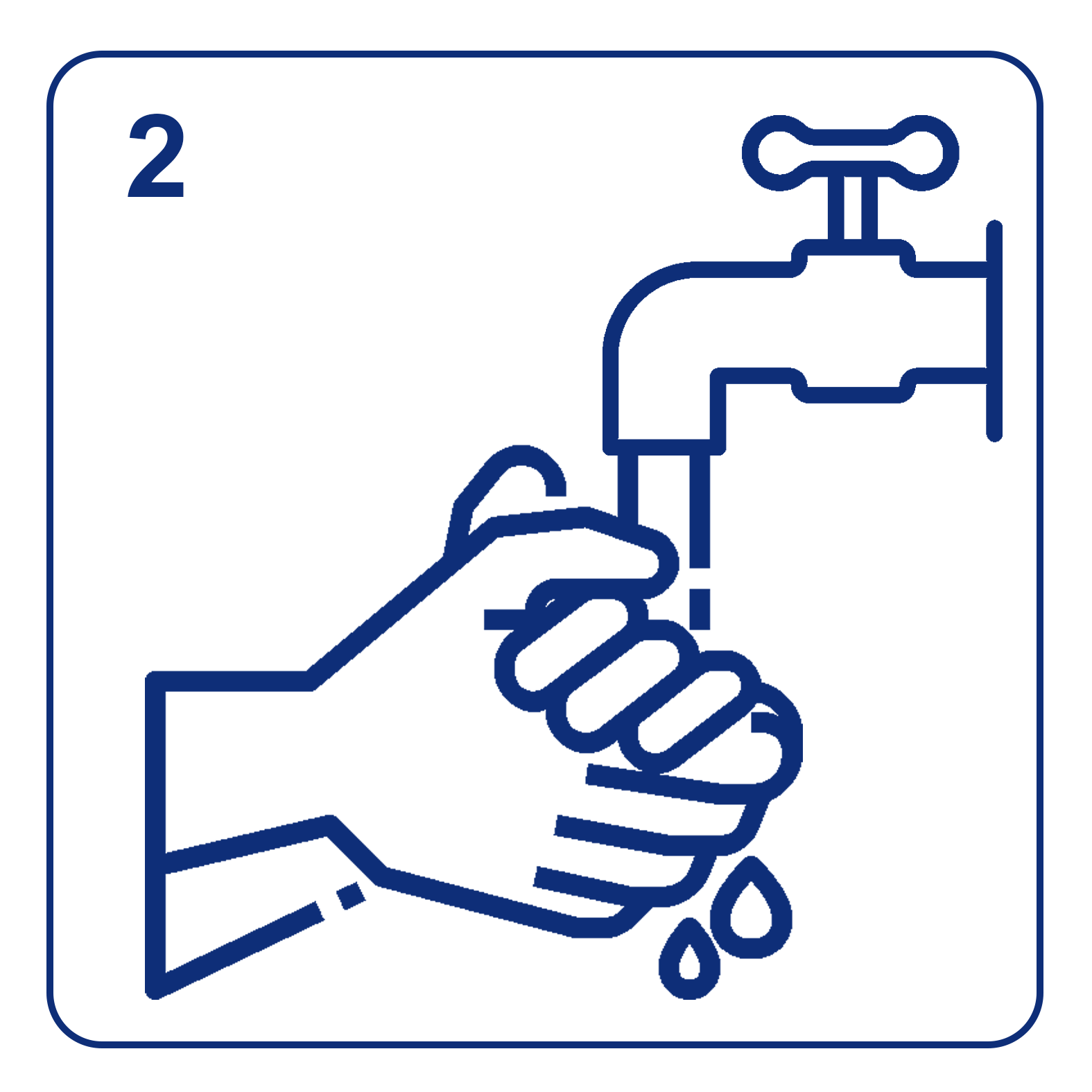 Wash hands thoroughly with soap and water to ensure fingertips are clean and dry.